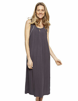 Cyberjammies 1332 Nora Rose Nancy Grey Modal Long Nightdress