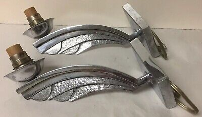 Vintage Pair of Wonderful Art Deco Chrome Scone Lights