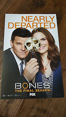 2016 Sdcc Comic Con Exclusive Fox Poster Bones Emily Deschanel David Boreanaz