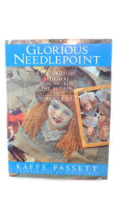 GLORIOUS NEEDLEPOINT Book Kaffe Fassett Pillows Wall Hangings Floor Throws Totes
