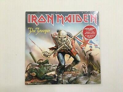 Iron Maiden The Trooper Logo Embroidered Patch Cover Eddie with UK Flag /& Sword