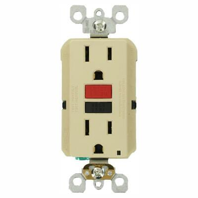 Leviton Electrical GFCI Outlet 15 Amp Ungrounded Ivory (3-Pack)