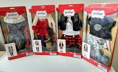 "Penelope and Friends 4-Piece Doll Outfit for 18"" doll (fits American Girl Dolls)"