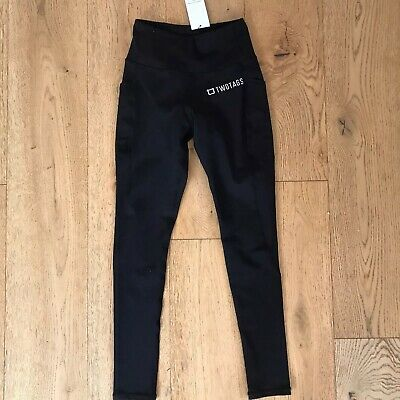 Two Tags Black Leggings - Size S (brand new with tags)