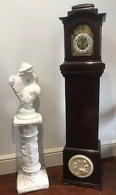 Tall Architectural Exhibition Mahogany Grandmother Salon Clock