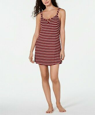 24$ Jenni Ladder Front Scoop-Neck Chemise Nightgown, Color:PlumWine