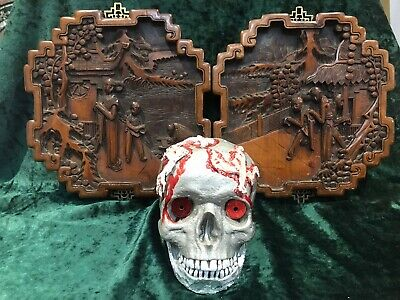 Bronze Sculpture Macabre Skeleton with Skull Signed Kauba Scene from Hamlet