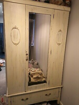Vintage Drawered Classic Wardrobe Antique
