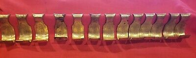 13 NOS Brass Picture Rail Hooks