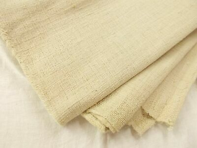 63X56 Vtg Antique FRENCH Heavy HEMP LINEN GRAIN BAG SHEET Throw BLANKET QUILT