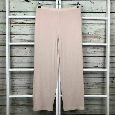 Chico's Travelers Casual Pants 2 LARGE 12 Short Pale Pink Travel Knit Lined