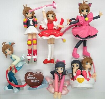"CardCaptor Sakura & Tomoyo 3.5"" HG Figure Set Collection Gashapon Card Captor"