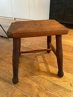 Rustic Antique/ Vintage Wooden Farmhouse Stool/ Plant Stand