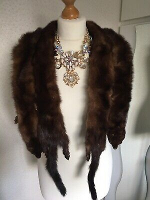 Four x Full Mink Collars Vintage Taxidermy