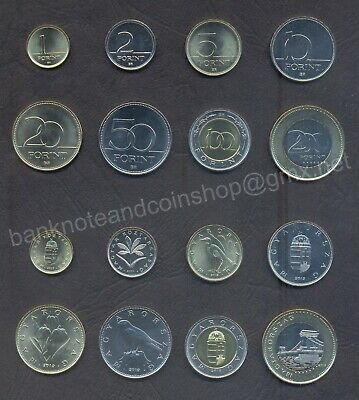 1 2 forint 2007 km#692;693 UNC Hungary set of 2 coins
