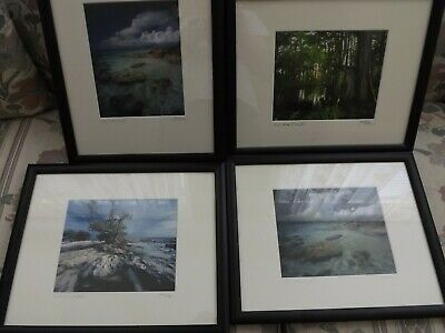 Jeff Ripple Signed and Framed Photographs X 4