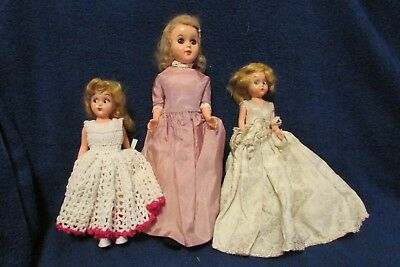 Vintage 1950's Reliable Toy Company Dress Me Dolls - Set of Three