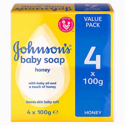 Johnsons Baby Soap Honey with Baby Lotion 8 X 100g Bars