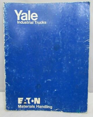 Yale Eaton Forklift MC Maintenance And Parts Manual Fork Stacker 4000 LB