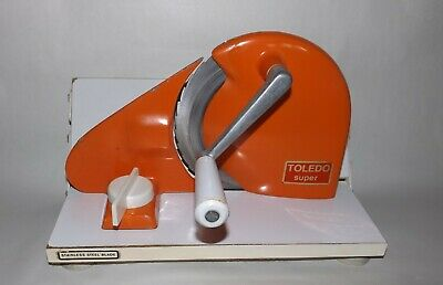 Toledo Slicer Stainless Steel Blade Made in Germany ReTRo Orange Hand Operated