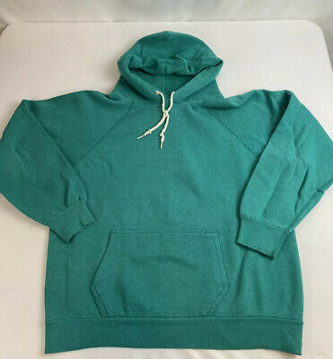 True Vintage 70s Hoodie  Sweatshirt Hooded Size Small Green A0503