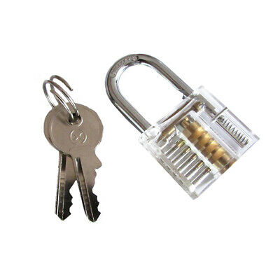 Practice Transparent Visable Clear Cutaway Locks Padlock Locksmith Training New