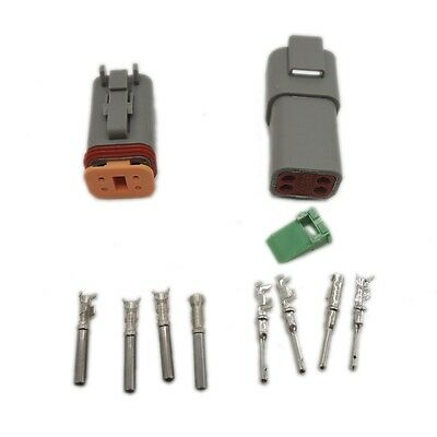 Deutsch 5 sets Kit  DT 4 Pin Waterproof Electrical Wire Connector plug 22-16AWG