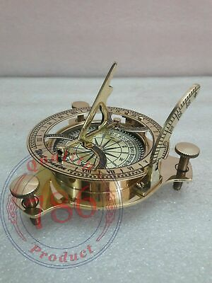 """3/"""" Vintage Maritime Antique Brass Lens Compass Floating Dial Nautical Table Top"""