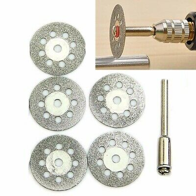 6x 22mm Silver Diamond Cutting Disc Wheel Kit For Rotary Drill Tool Accessory
