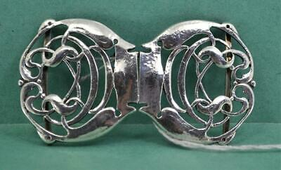 Arts & Crafts Sterling Silver Buckle Liberty & Co Archibald Knox Birmingham 1906