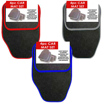 Universal 4 Piece Front And Rear Car Van Floor Mats Rubber Backed Carpet