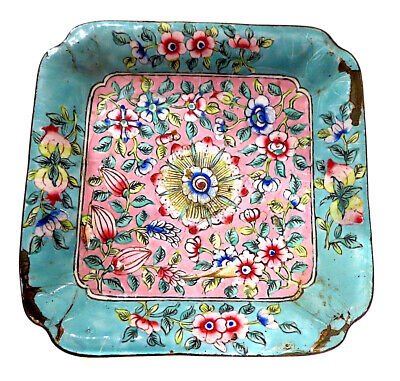 CANTON Enamel ANTIQUE Tray CHINESE Famille ROSE