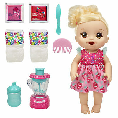 Baby Alive Magical Mixer Baby Doll Strawberry Shake,Toy for Kids Ages 3+