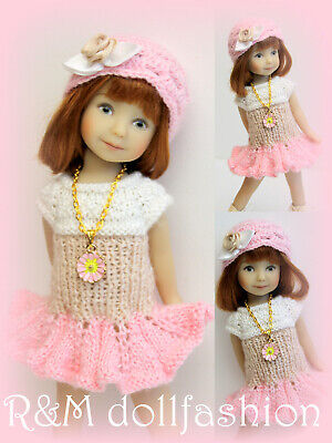 """30mm CREAM Lace up Boots Custom for 8/"""" Heartstring Doll Shoes Effner"""