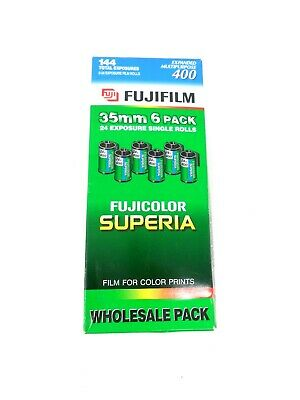 Fujifilm Superia 400 Expanded Multipurpose Exp 08/2000 35mm Film 24 Exp-6 Pack