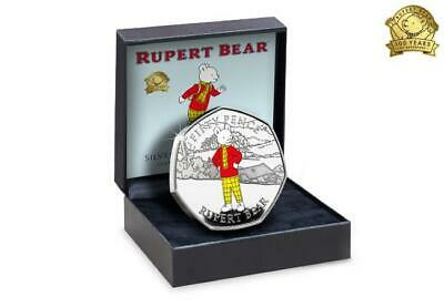2020 Rupert Bear Silver Proof 50p Coin  Limited Edition *** REDUCED TO CLEAR ***