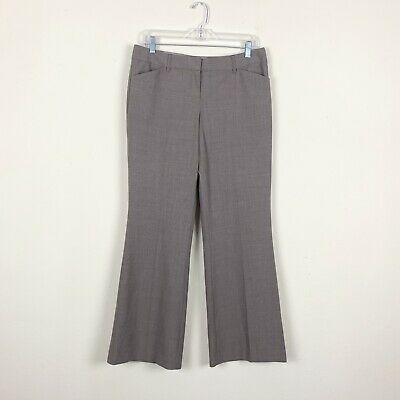Express Editor Women's Size 6S Dress Pant Brown Straight Wide Leg Career Trouser