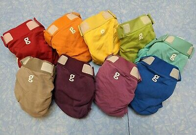 Gdiapers lot of 9 medium gpants + liners in a rainbow of colors