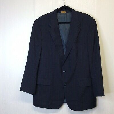 Brooks Brothers Mens Sport Coat Sz 43 R Navy Wool Blazer Striped 2 Button Jacket