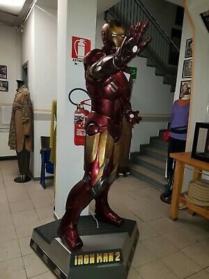 Iron Man 2 Life-Size Statue (Battlefield Version) 1:1 Con Luci Led