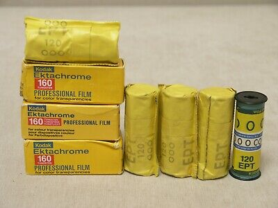 Kodak Ektachrome 160 color reversal film, 8 pcs, 120 slide, expired, lomography