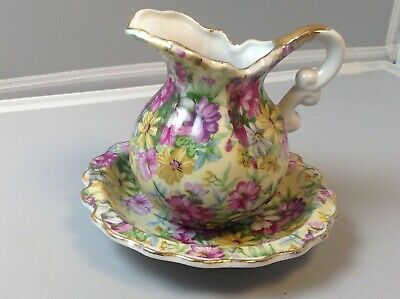 Royal chintz arnart fifth Avenue small creamer pitcher and underplate