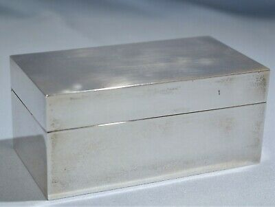 Italian Sterling Silver Large Snuff Box/Casket Milano Mid-Century Modern