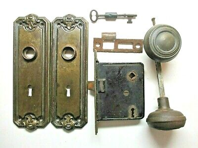 Antique Large Russell /& Erwin Mortise Safety Privacy  Heavy Duty lock Dead Bolt.