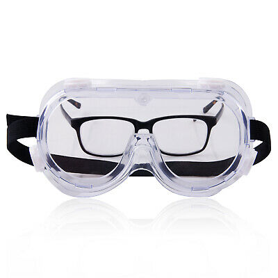 Safety Goggles Glasses Anti Fog Enclosed Work Lab Eye Protection Clear Lens