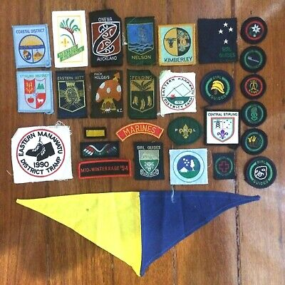 Large Lot Of Girl Guides Cloth Patches