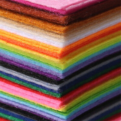 "Craft Felt | Wool Mix and Soft Washable | 40+ Colours | 12""/30cm Square Sheets"