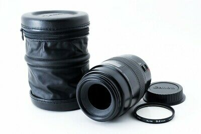 Canon EF Macro 100mm F/2.8 AF Lens Non USM W/Filter,Capfrom Japan [Very good]