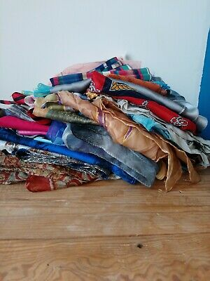 Job Lot 50 Vintage & Second Hand Scarves Wholesale Vintage Womens Clothing