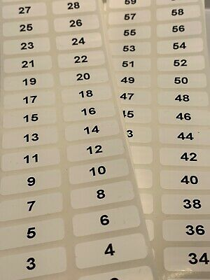 Sequential Number Labels, Self Adhesive, Numbers 500-1000